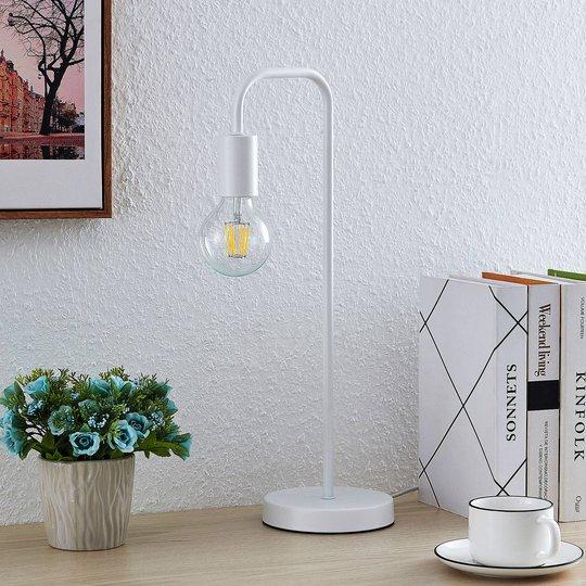 Lindby Erivana bordlampe, hvit