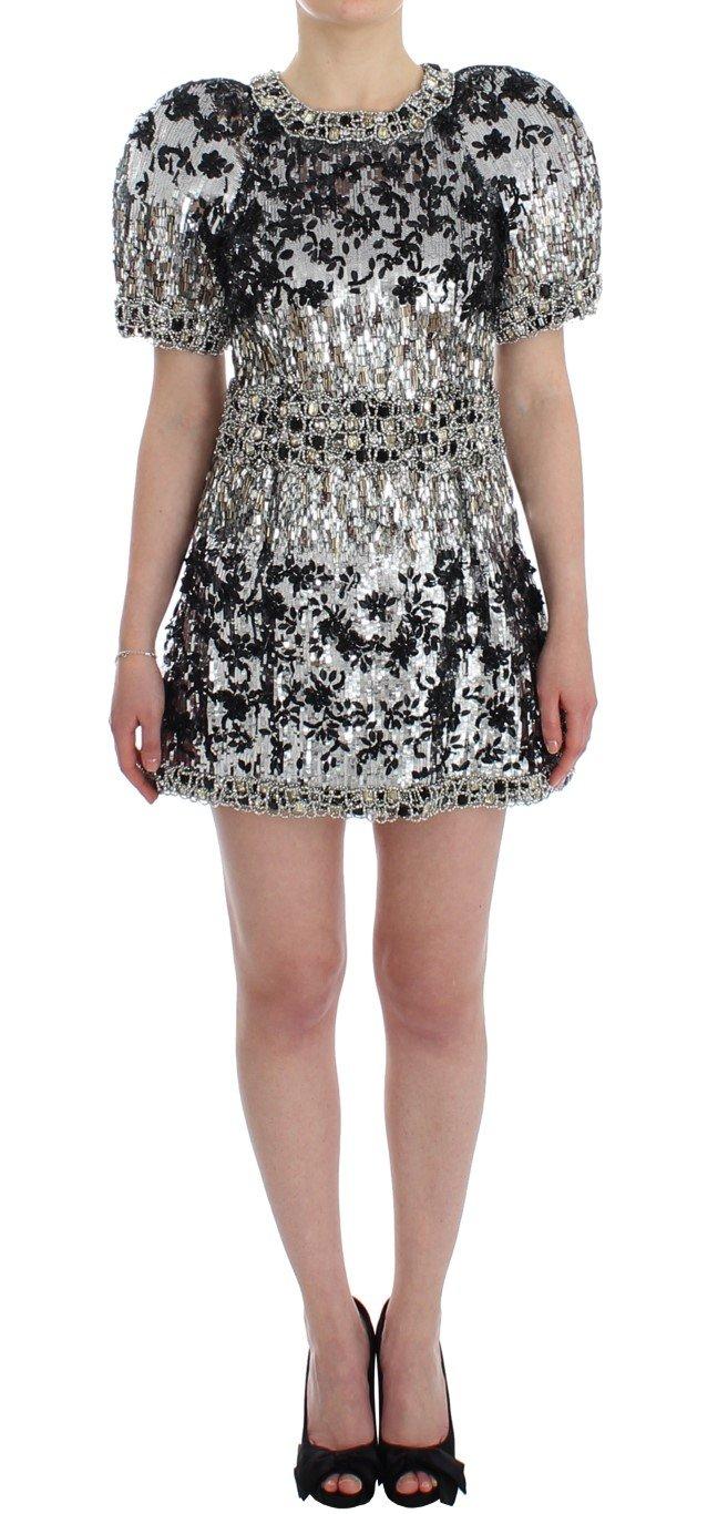 Dolce & Gabbana Women's Runway Handmade Dress Silver SIG12480 - IT40|S