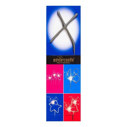 Bokstavsbloss Naturell - Bokstav X