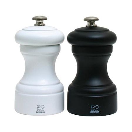 Bistro Salt- & pepparkvarn vit & svart 10 cm