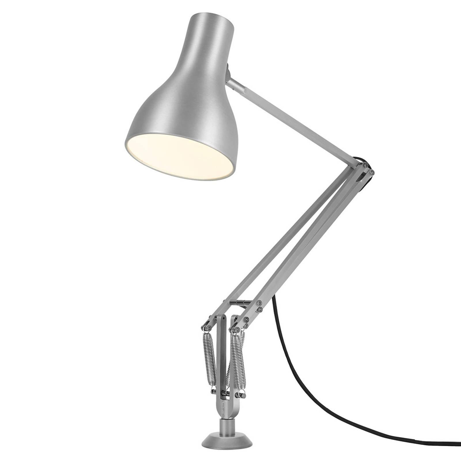 Anglepoise Type 75 bordlampe skru-fot sølv