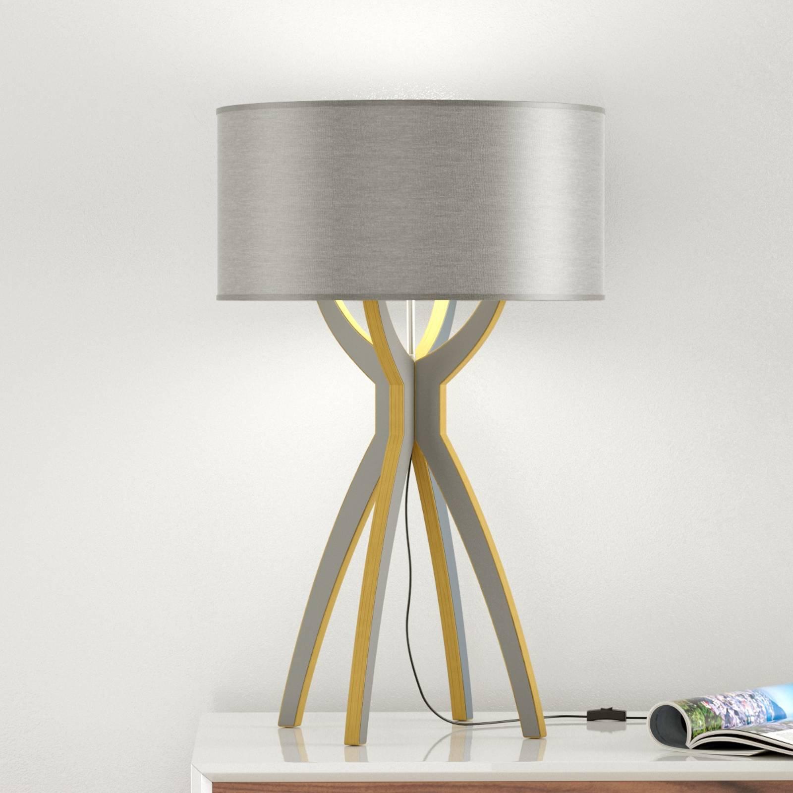 B-Leuchten Body - bordlampe av tre grå