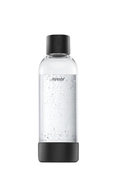Mysoda 1l Flaske 1-pak Ss Black Kolsyremaskin - Svart