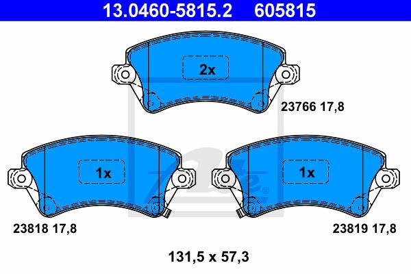 Jarrupalasarja, levyjarru ATE 13.0460-5815.2