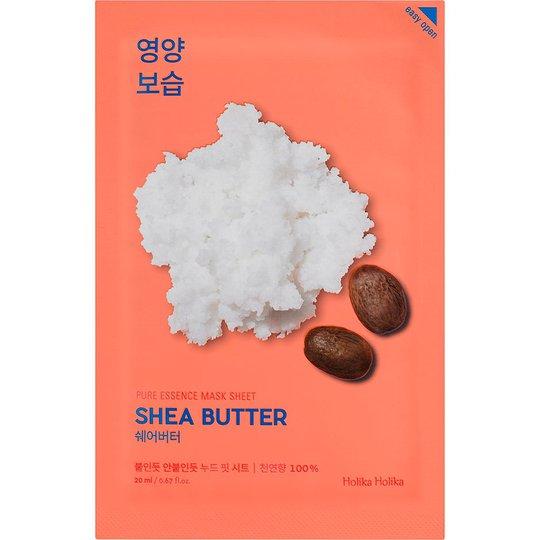 Holika Holika Pure Essence Mask Sheet - Shea Butter, Holika Holika Kasvonaamio