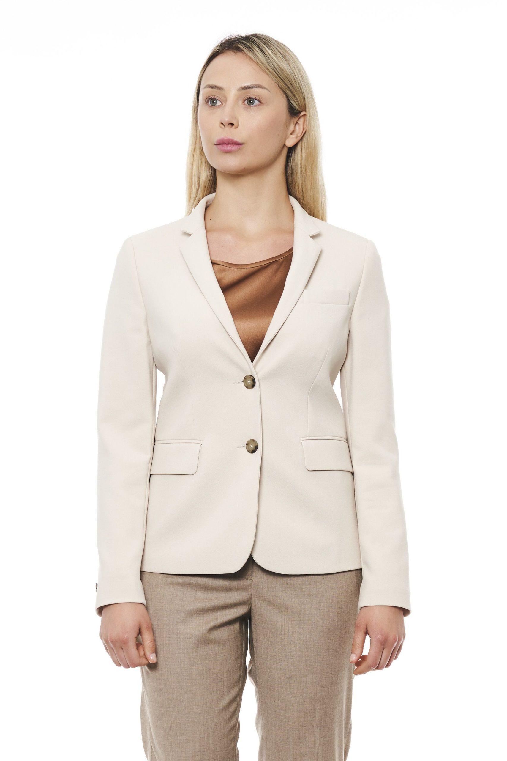 Peserico Women's Jacket Beige PE1426916 - IT42   S