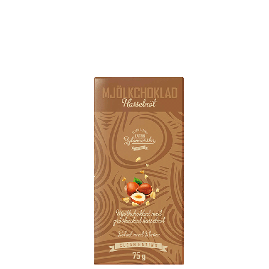 Mjölkchoklad Hasselnöt, 75 g
