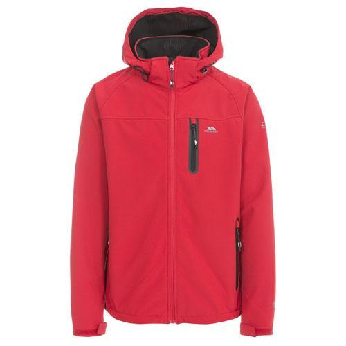 Trespass Men's Softshell Jacket Various Colours Accelerator - Red L
