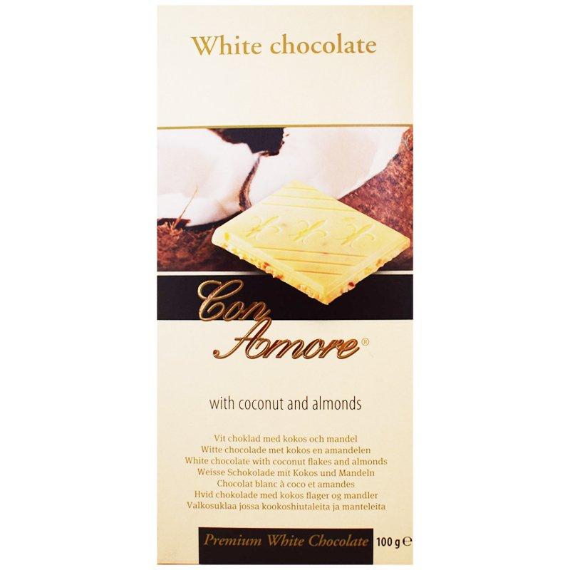 "Vit Choklad ""Coconut & Almonds"" 100g - 53% rabatt"