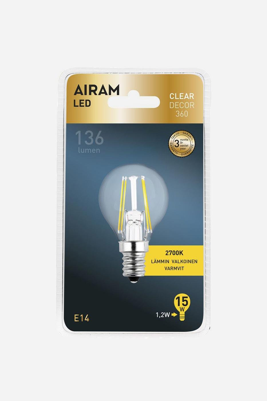 Ljuskälla Filament LED klotlampa E14 25W