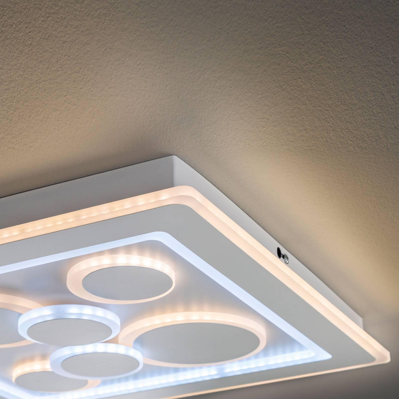 LED-taklampe Ratio, dimbar, seks sirkler