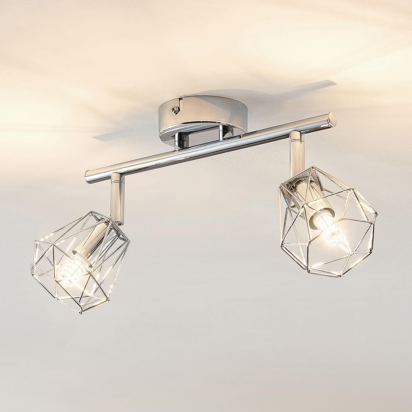 Lindby Giada LED -kattovalaisin, kaksilamppuinen