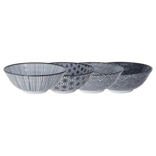 Tokyo Design Studio Nippon Black skål 21 cm. 4 st.