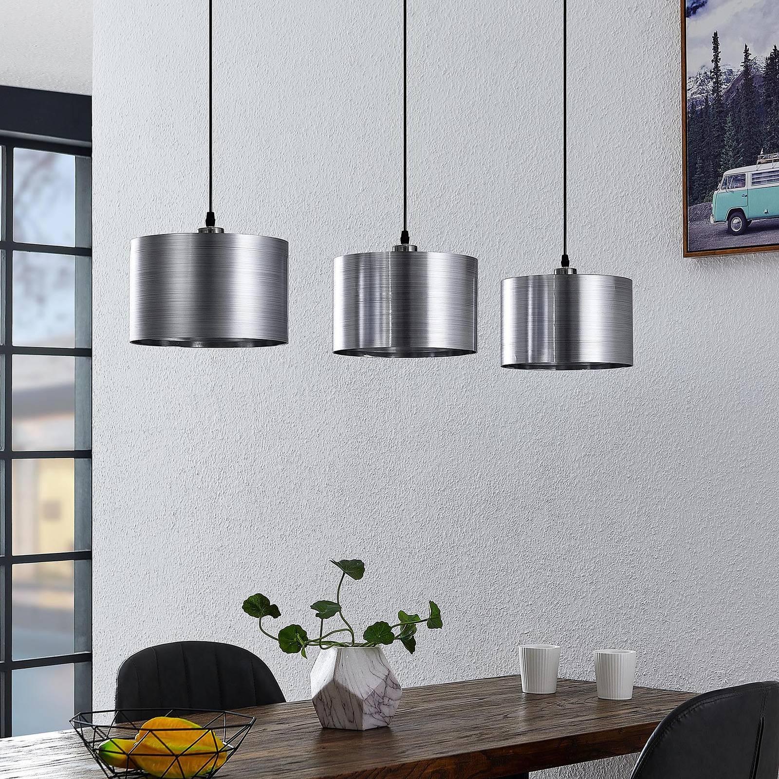 Lindby Dexin - ruokapöydän riippuvalo 3-lamppuinen
