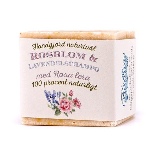 Källans Naturprodukter Naturlig Schampotvål Ros & Lavendel, ca. 125 g