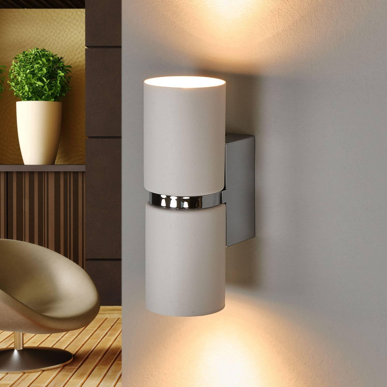 LED-vegglampe Passa, rund, hvit
