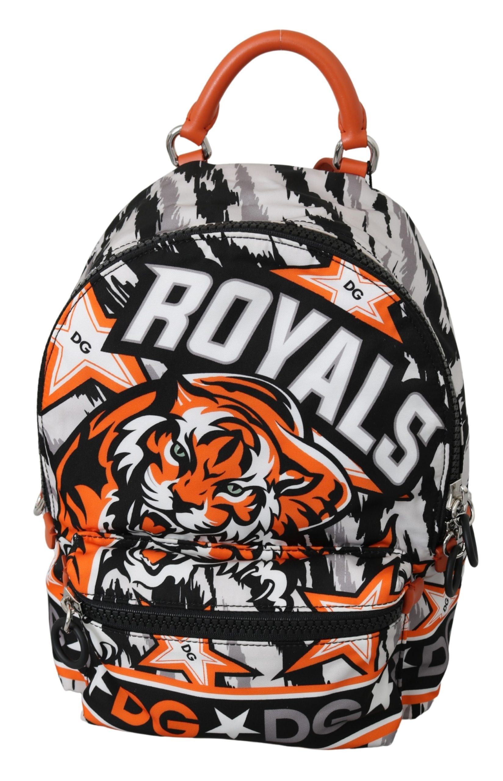 Dolce & Gabbana Men's Tiger Print Casual School Backpack Multicolor VAS10042