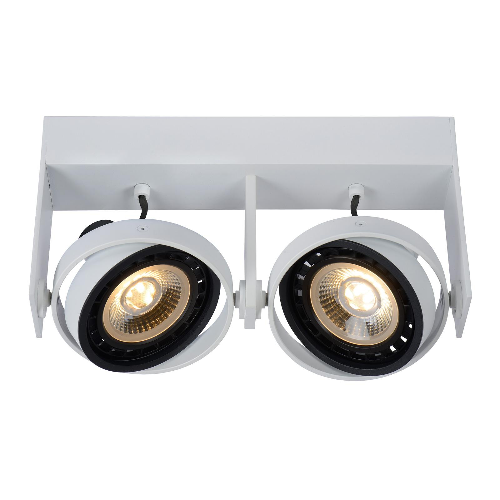 LED-kattokohdevalo Griffon valkoinen, 2-lamppuinen