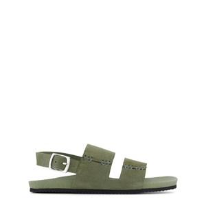 Bonpoint Buckle Suede Sandaler Khaki 31 (UK 13)