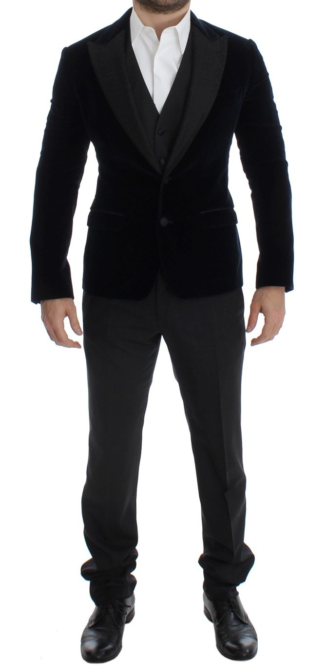 Dolce & Gabbana Men's 3 Piece Slim Fit Suit Blue SIG14071 - IT46 | M