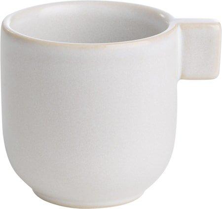 Liten kopp med hank Hvit sand