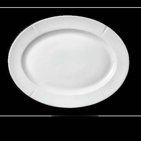 Grand Cru Oval plate 30x23 cm hvit