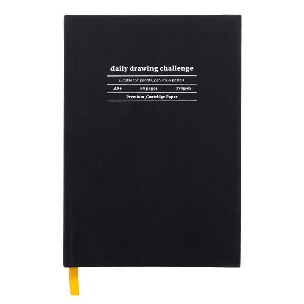 Black Daily Drawing Challenge Sketchbook