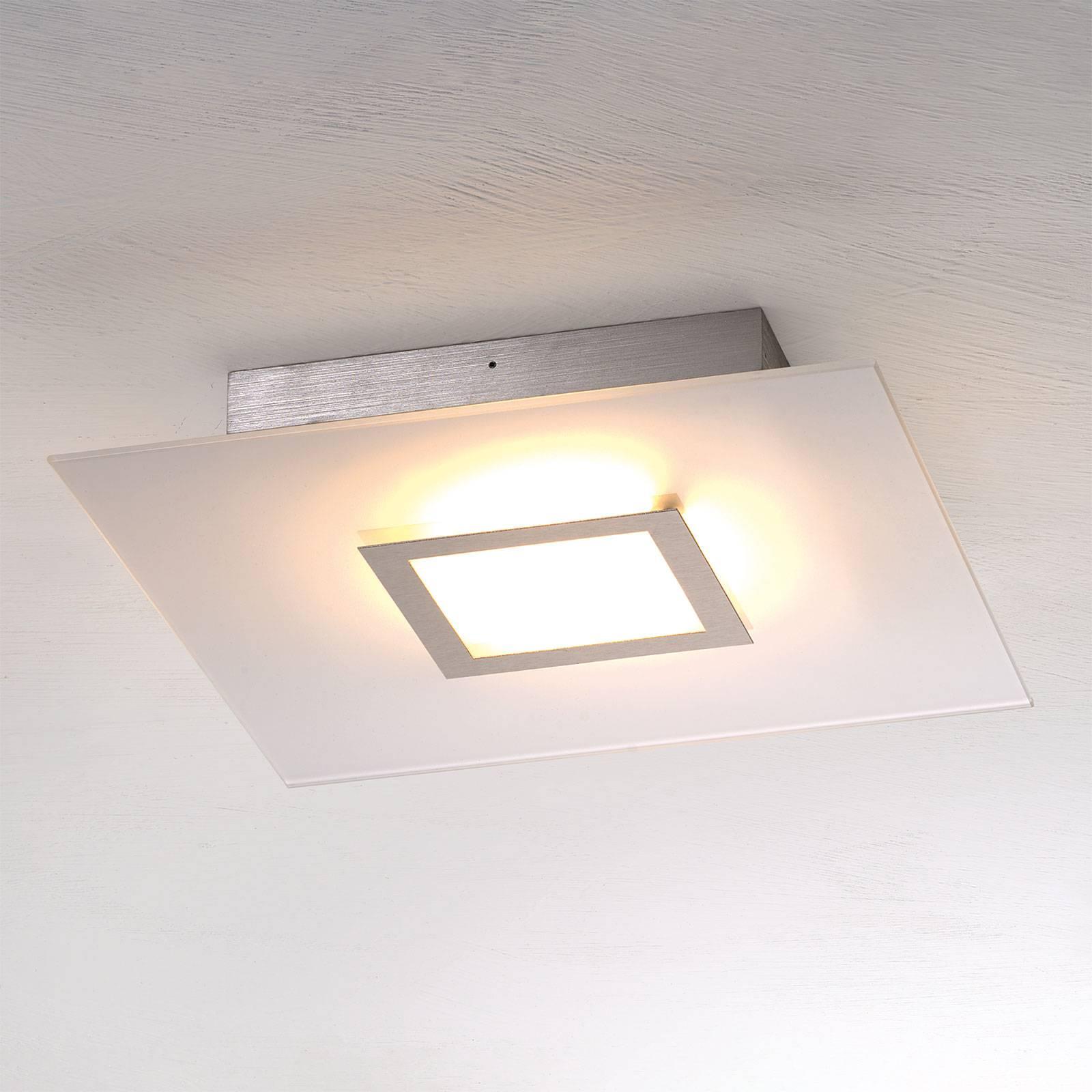 Nelikulmainen LED-kattovalaisin Flat himmennettävä