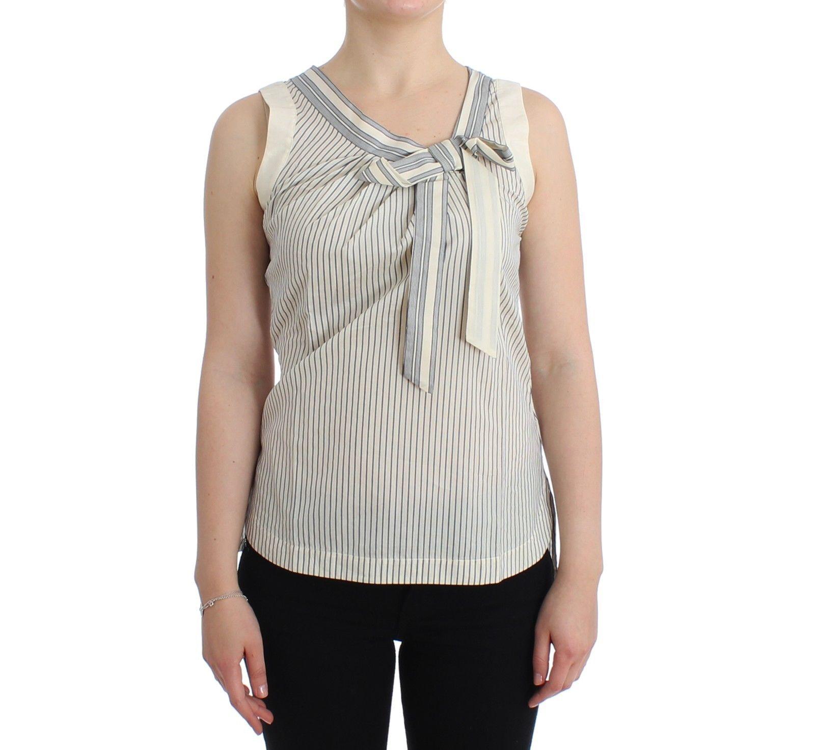 Ermanno Scervino Women's Striped Top White SIG11505 - IT2   S