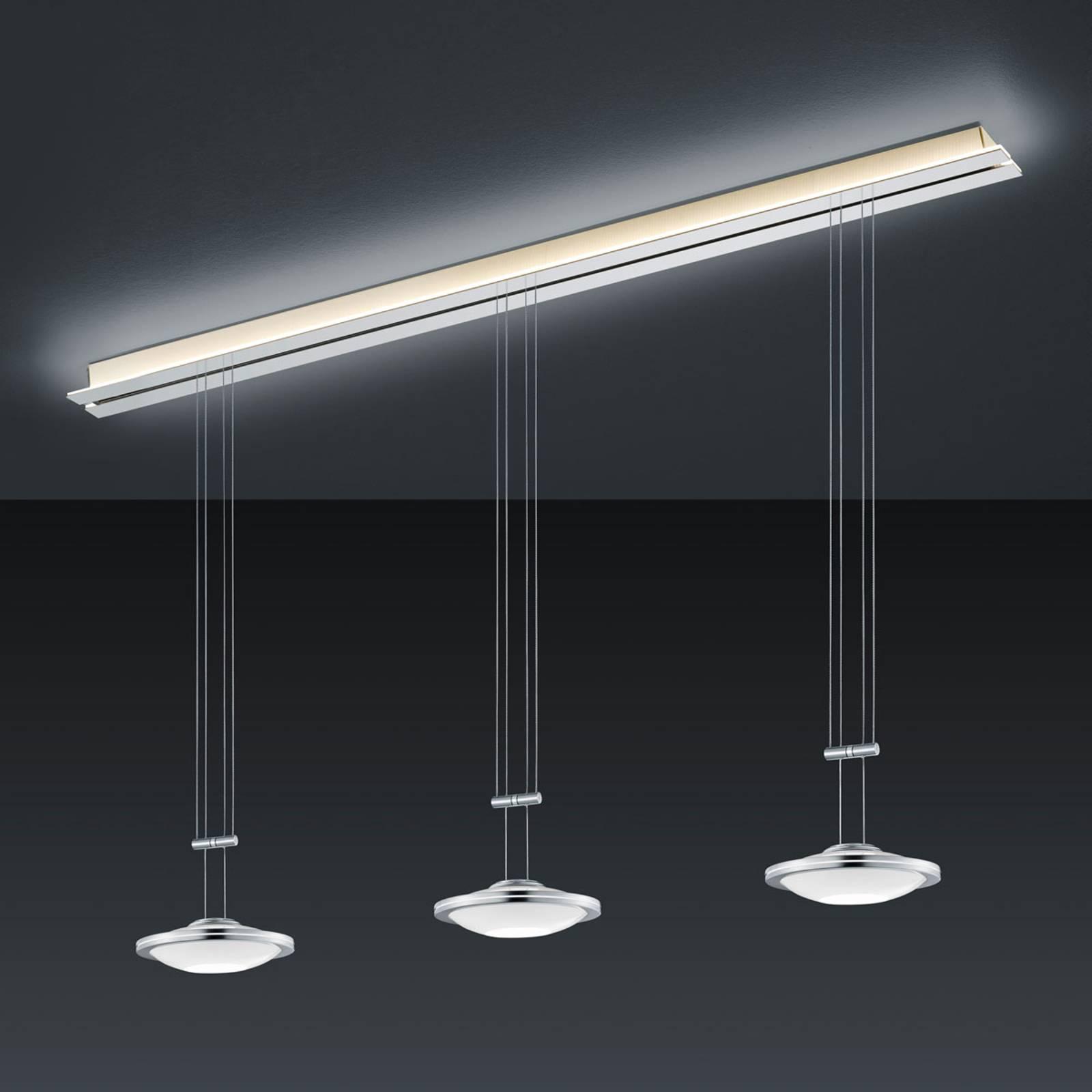 BANKAMP Strada Saturno riippuvalo 3-lamp., 155 cm