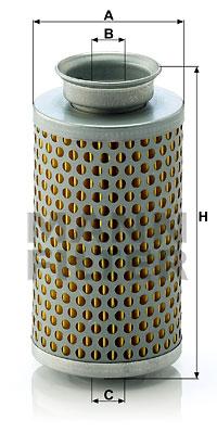 Hydrauliikkasuodatin, ohjaus MANN-FILTER H 615