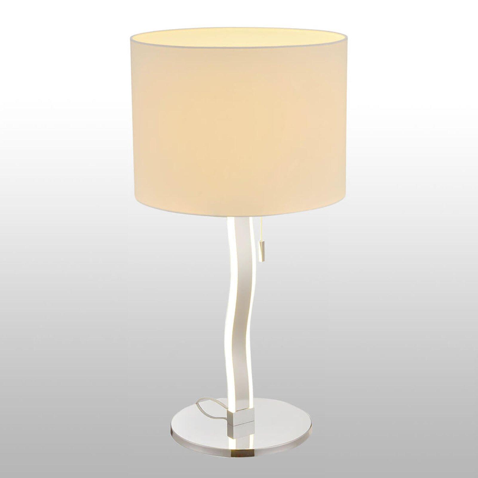 Maren - tekstil-bordlampe med LED-er i fot