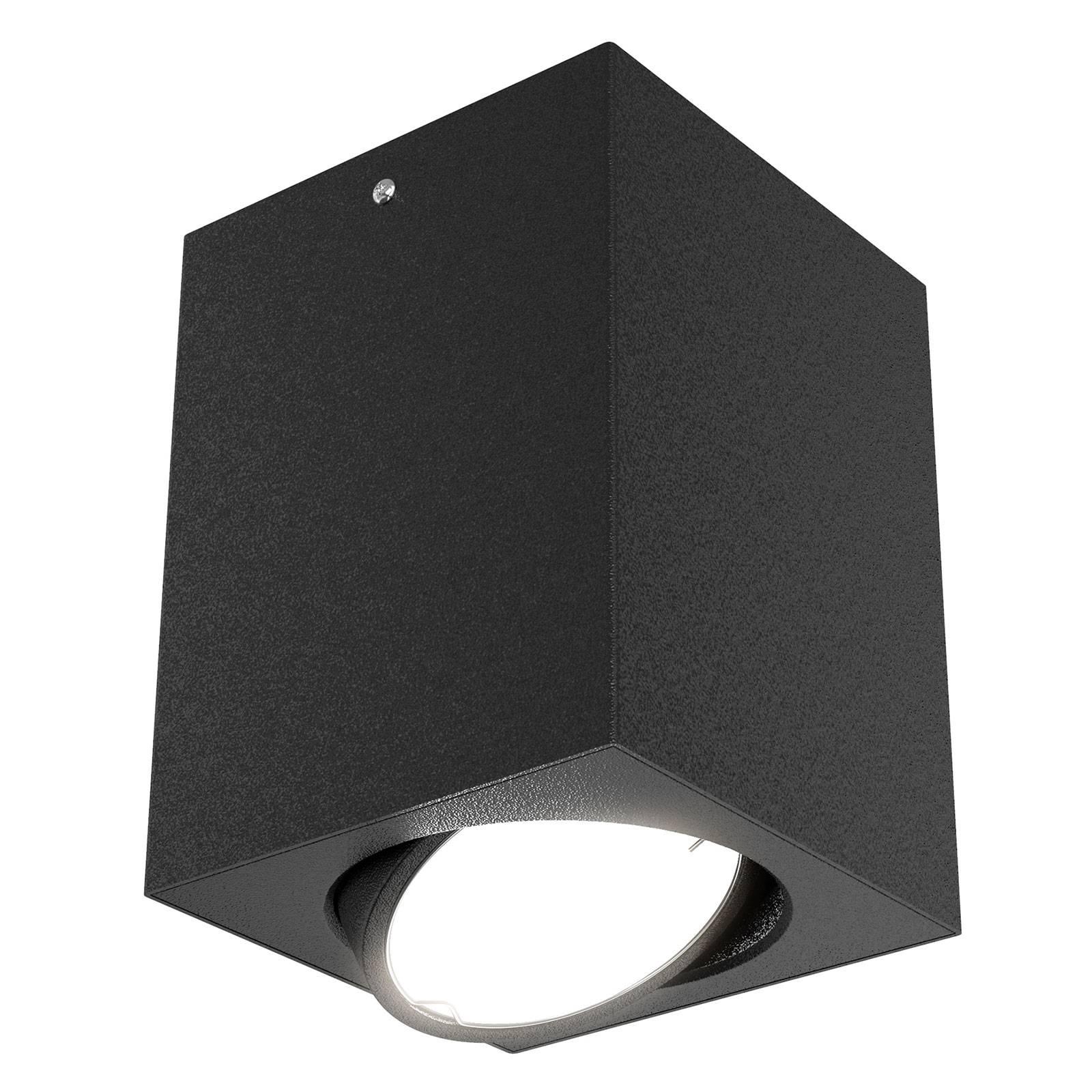 LED-kattospotti 7120, GU10-LED-lamppu, musta