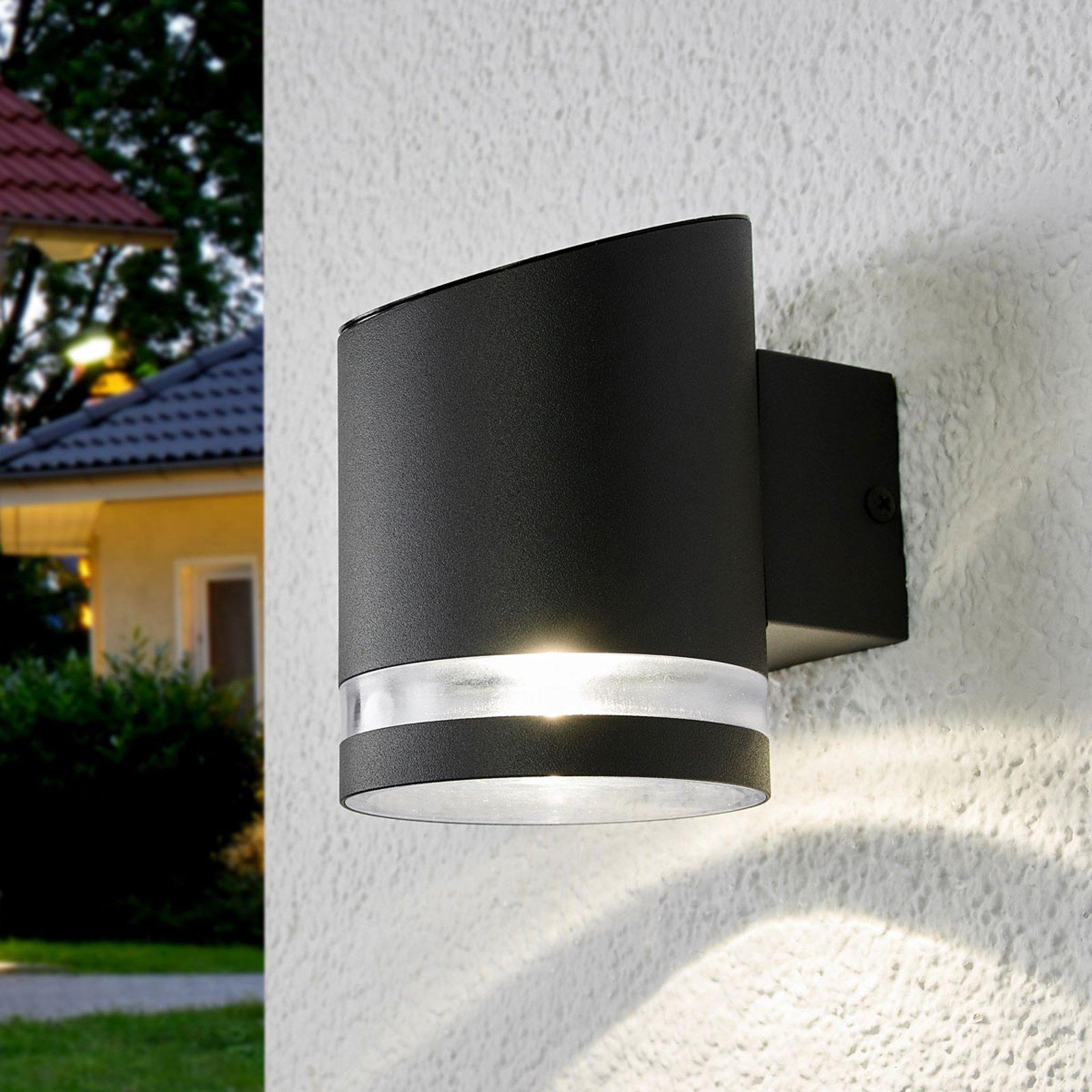 Solcelledrevet utendørs vegglampe Melinda med LED