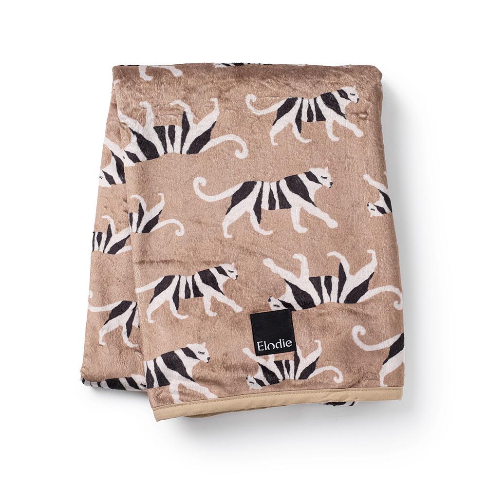 Elodie Details - Velvet Blanket -White Tiger Warm Sand
