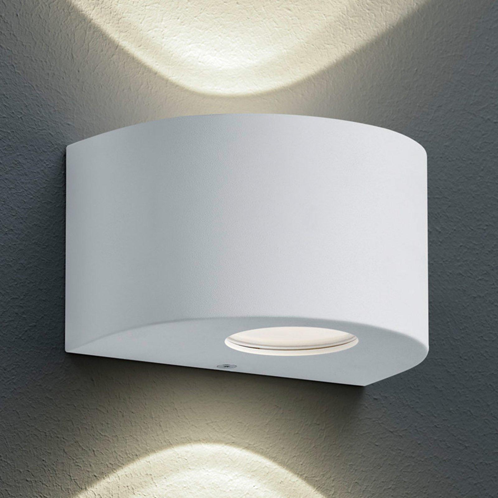 Rund utendørs LED-vegglampe Rosario, hvit