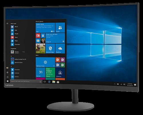 """Lenovo - D32qc-20 31.5"""" 75Hz QHD 2560x1440 Curved Monitor"""