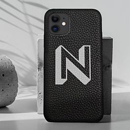 iPhone 11 Pro Genuine Leather Printed Case