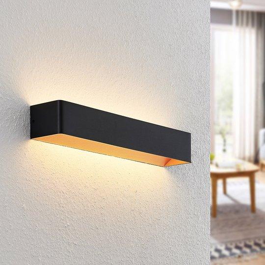 Arcchio Karam LED-vegglampe, 53 cm, svart