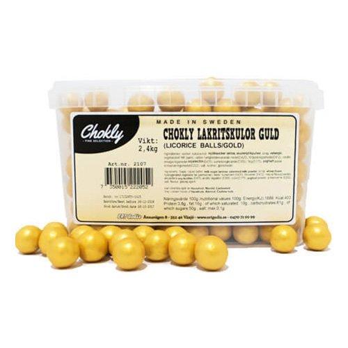 Lakritskulor Guld Lösvikt i Burk - 2.4 kg