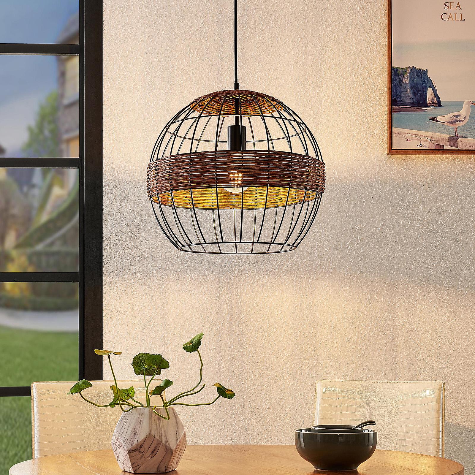 Lindby Kaska -riippuvalo, 1-lamppuinen, 42 cm