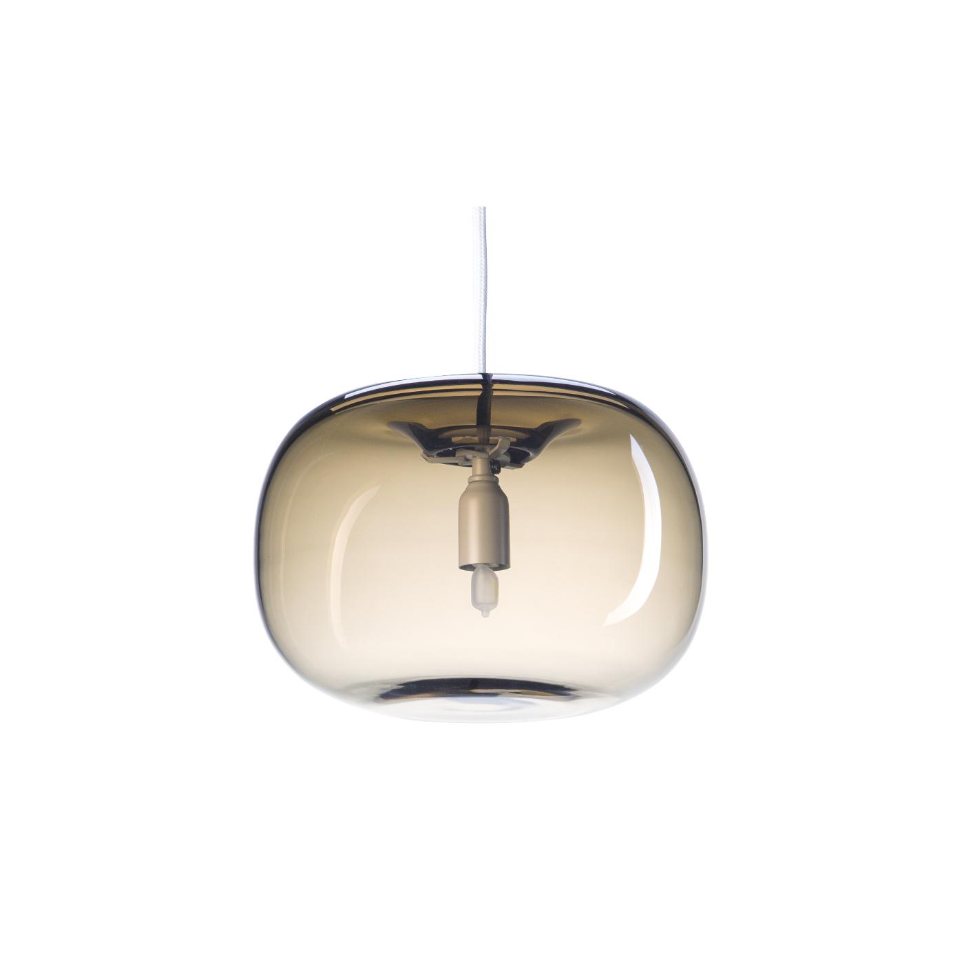 Taklampa PEBBLE Knubbig varmgrå glas, Örsjö belysning