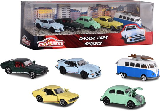 Majorette Lekebiler Vintagebiler 5-Pack