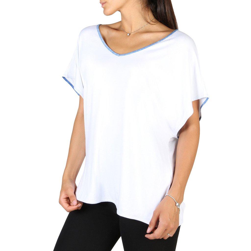 EA7 Women's T-Shirt White 3YTT53 - white XXS