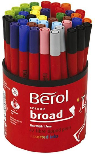 Berol Tusch Blandede Farger 42stk