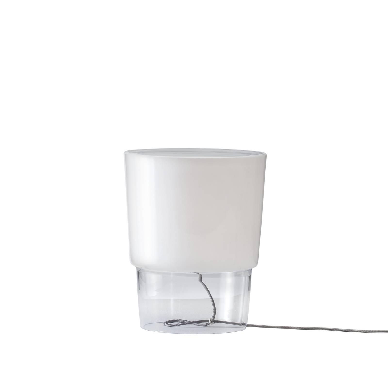 Prandina Vestale T3-pöytävalaisin valkoinen/kirkas