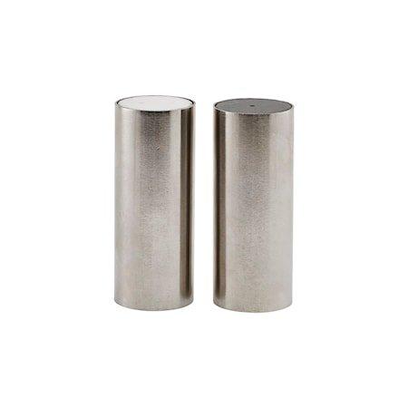 Salt og pepper Tall Børstet sølvfarge