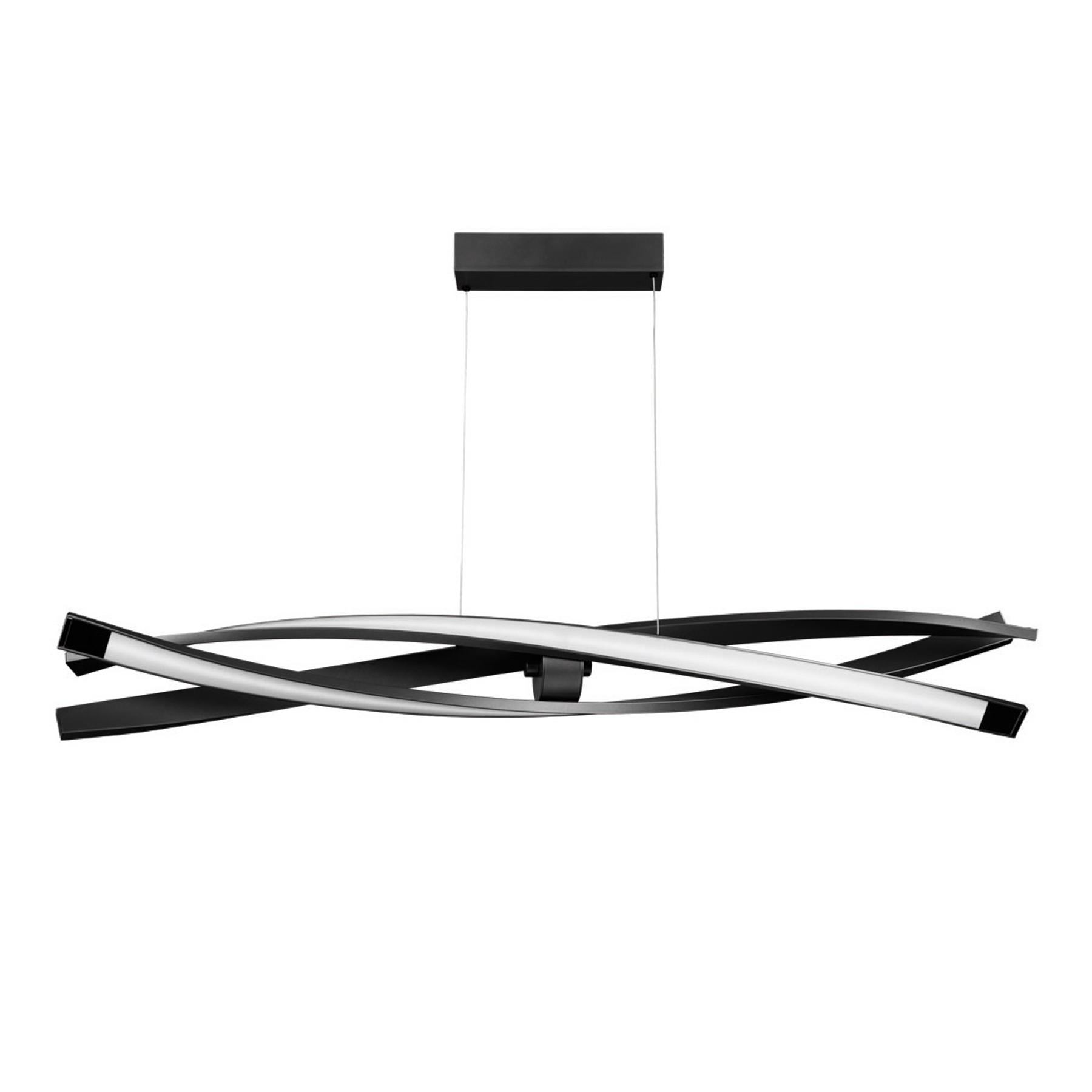 LED-riippuvalaisin Sagitta, 3-lamppuinen, musta