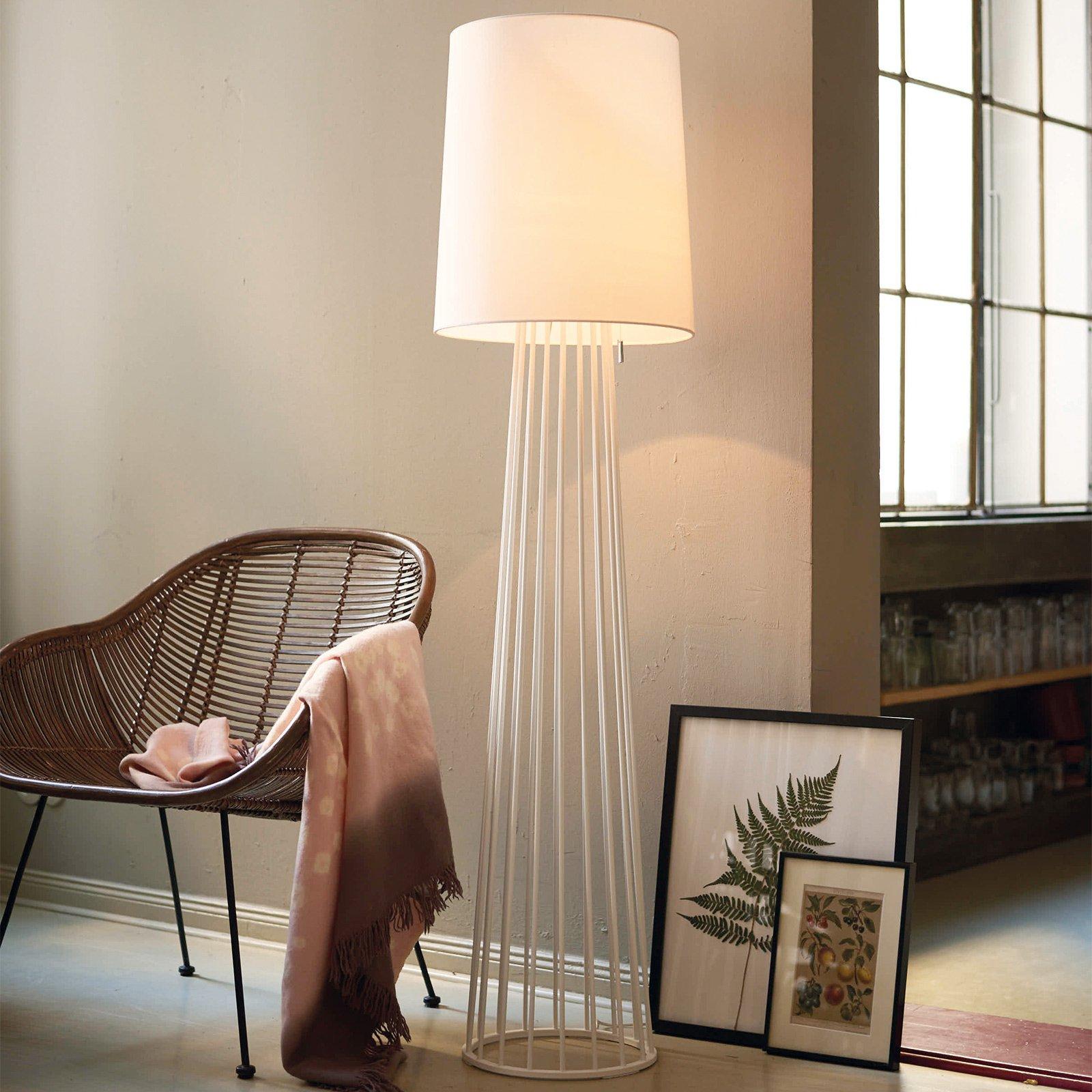 Villeroy & Boch Mailand gulvlampe tekstilskjerm