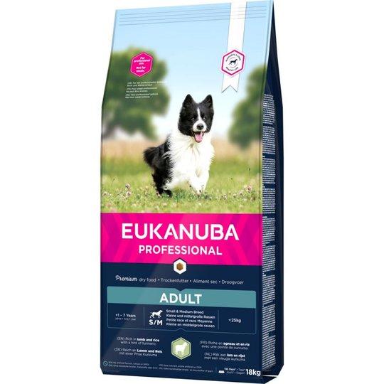 Eukanuba Dog Adult Small & Medium Breed Lamb & Rice (18 kg)